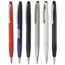 sleek twist action pen with grip