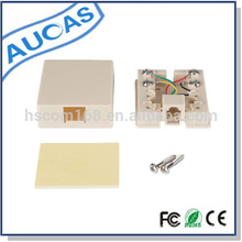 telephone rj11 rj45 wall surface mount telephone cable junction box