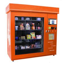 Distributeur automatique de grignotines avec l'écran de la publicité