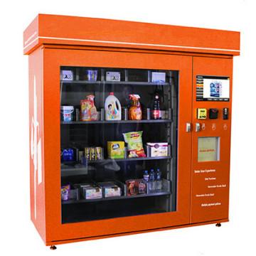 Imbiss-Automat mit LCD-Werbungs-Bildschirm