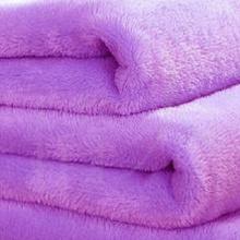 Cobertor coral do poliéster impresso ou liso tingido de lã