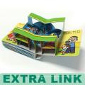 Яркие оптовой пользовательских обучение картон 3D детей книги