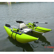 PVC 1 Person Inflatable Pontoon Boat Fly Fishing