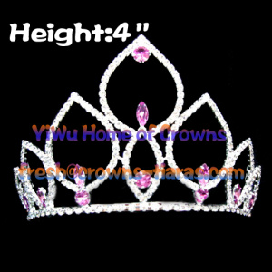 4inch Pink Diamond Pageant Crowns