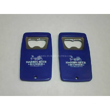Blue Plastic Bottle Opener with Printed Logo
