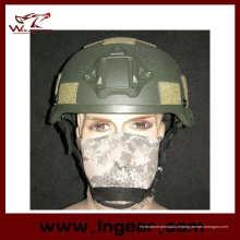 Capacete Mich de 2002 com Nvg Mount & trilho lateral do capacete de segurança militar