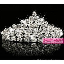 Vente chaude de cristal couronne princesse en métal