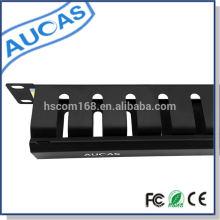 Taiwán importó 1u sistema de gestión de cable estándar de ajuste a 19 pulgadas de rack de precio de fábrica