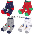 100 % coton tricot chaussettes enfants personnalisés en gros