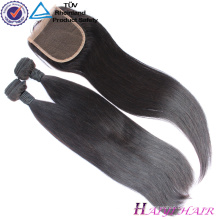 New Arrival Original human hair silky straight Mongolian 5x5 lace closure