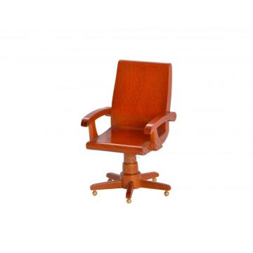Dollhouse office furniture wooden swivel chair
