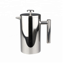 Double Wall French Press Kaffeemaschine aus Edelstahl