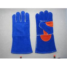 Premium Kuh Split Leder Schweißer Arbeit Handschuh-6515