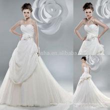 Fabulous 2014 Tulle Feito Vestido De Noiva De Vestido De Baile Vestido De Noiva Strapless Alternativo Vertical Com Roupas De Noiva NB0892