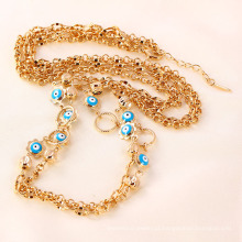 41313 atacado china jóias turcas acessórios 18k delicat evil eye banhado a ouro colar de jóias