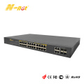 Obehandlad Gigabit 24-portar POE + switch