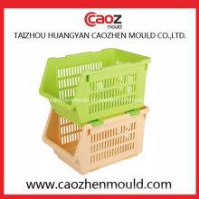 Inyección de plástico de alta calidad apilando compartimientos / cajas de molde