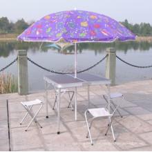 Tabla de publicidad para paraguas enchufable