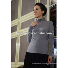 Jersey de cuello alto de mujer de cachemir moderno