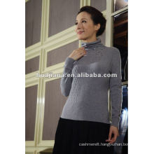 Modern women cashmere sweater turtleneck