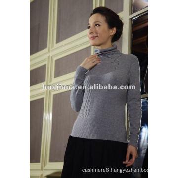 Modern women cashmere sweater turtleneck