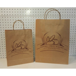 Brown kraft paper bag-oxford