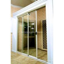 Fourniture de prix économiques Slim Aluminium Frame Sliding Doors