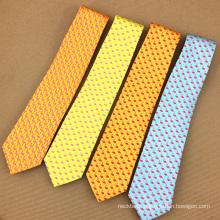 Mens Private Label Digital Printing Polyester Flamingo Funny Tie