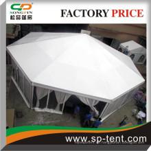 Große Größe weiß Achteckige Kuppel Zirkuszelte mit transparenten PVC-Wänden und Innenverkleidungen