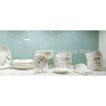 Middle East design Arabic Islamic round shape unbreakable 20pcs hotel restaurant porcelain melamine dinner set