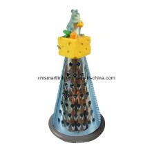 Polyresin Skulptur Käse Maus Edelstahl Reibe für Küche Gadgets