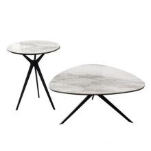 Table basse avec plateau en pierre