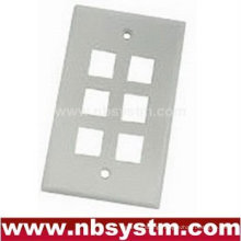 Face Plate 6 port, size:70x115mm