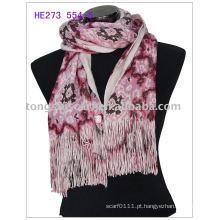Cachecóis de inverno moda tricô