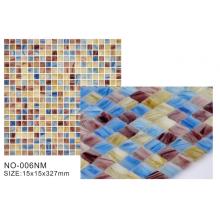Carreaux de mosaïque en verre bleu de couleur principale de la série Frosted