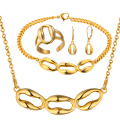Großhandelsgoldhalsketten-Ohrring-Ring-Armband-Goldschmucksachen