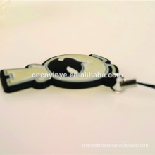 2015 novelty double--side smile face soft PVC phone charm