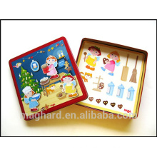 customized packaging, kid's toy, cartoon magnetic game, hot sale DIY creative magnetic puzzle