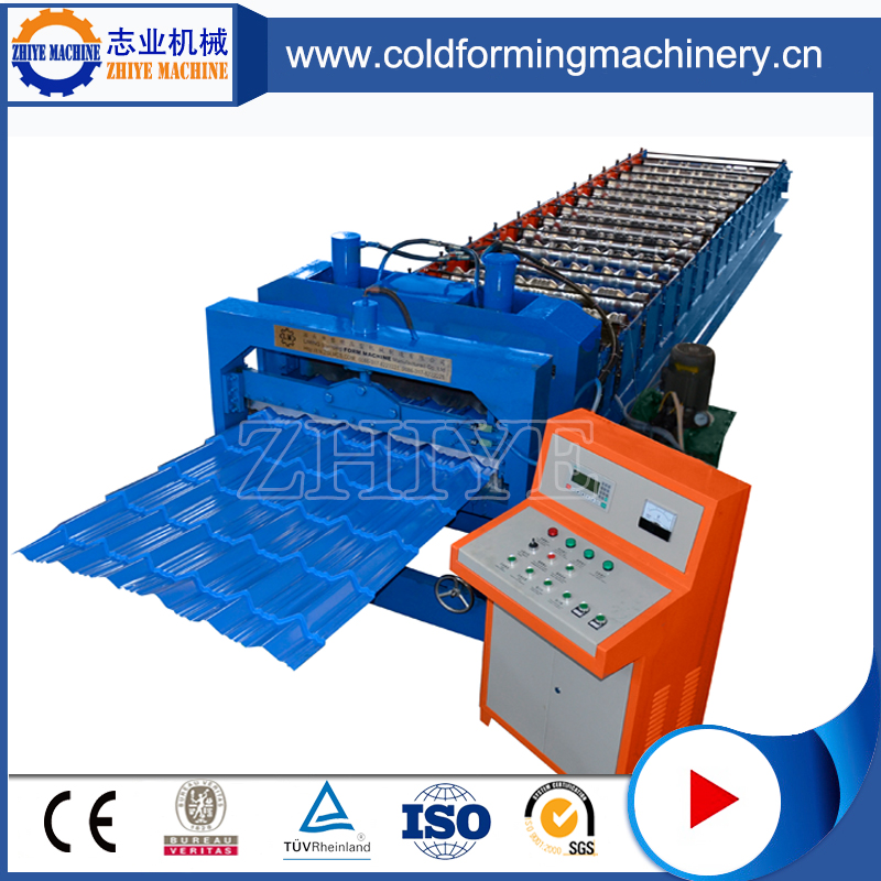 Glazed Tiles Roll Forming Machine dengan 380V 50HZ 3phase