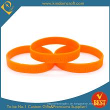 Benutzerdefinierte Pantone 021 Orange Farbe Silikon Armband & Armband