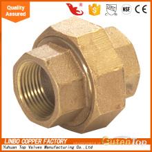 União reta de bronze dos encaixes de tubulação com o metal selado