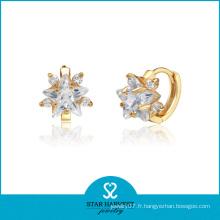 Boucles d'oreilles en argent sterling avec bijoux en or (SH-E0160)
