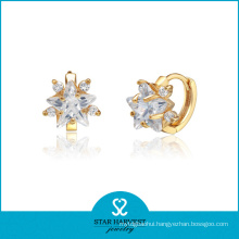 Saudi Gold Jewelry Silver Stud Earrings (SH-E0160)
