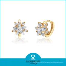Серебряные серьги с бриллиантами (SH-E0160)
