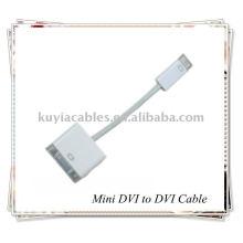 Adaptador de cable MINI DVI a DVI para PC