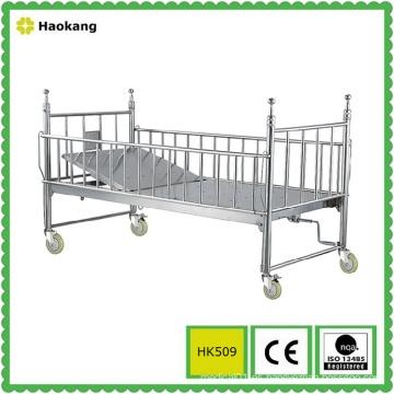 Muebles de hospital para la cama de niños médicos de acero inoxidable (HK509)