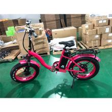 High Class 20inch 500w Bafang 8fun fat tire folding electric bike for lady