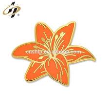 Bulk fabricant chine en métal personnalisé Tiger Lily Flower Pin