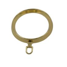 Extrator de zíper de Metal de anel redondo grande ouro moda Design