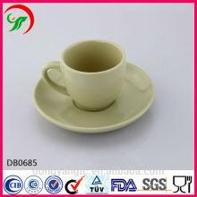 Taza y platillo de té de cerámica impresos aduana de 2015 nuevos productos